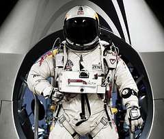 Although no one needed a spacesuit for Lauren's flight, it was quite advanced for a school science fair.