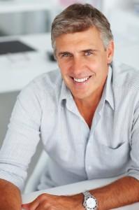 Mid age man, smiling, portrait