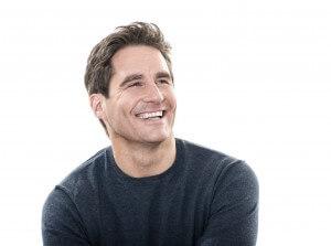 mid adult man, smiling, portrait