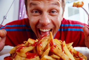 Men who are fast-food addicts may eventually pay the price for their heavy intake of high-calorie, low-nutrient foods.
