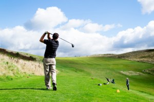 Playing golf is considered a relatively light physical activity.