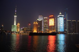 Chinese's unprecedented economic boom has brought millions its people from the rural hinterlands into the country's urban centers, such as Shanghai, seen above in a nighttime view.