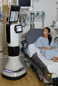 The autonomous telemedicine robot shown above was approved for hospital use by the U.S. Food and Drug Administration in early 2013.