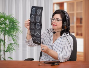 Telemedicine gives doctors easy access to their patients' digitized medical records and diagnostic data.