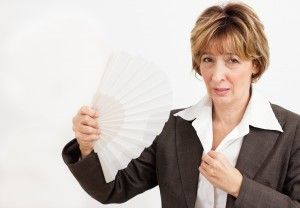 Hot flashes usually indicate a halt or sharp drop in the body's production of estrogen, a hormone that helps to protect women's hearts.