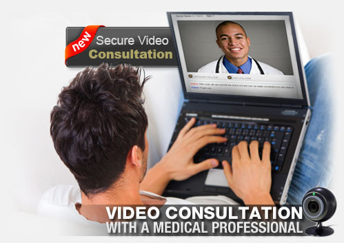 Private HIPAA Video Consultation by Medical Staff