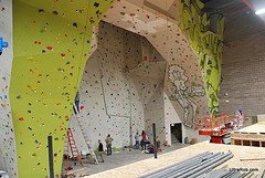 "See how ""supportive"" your date can be as you belay each other at a climbing gym."