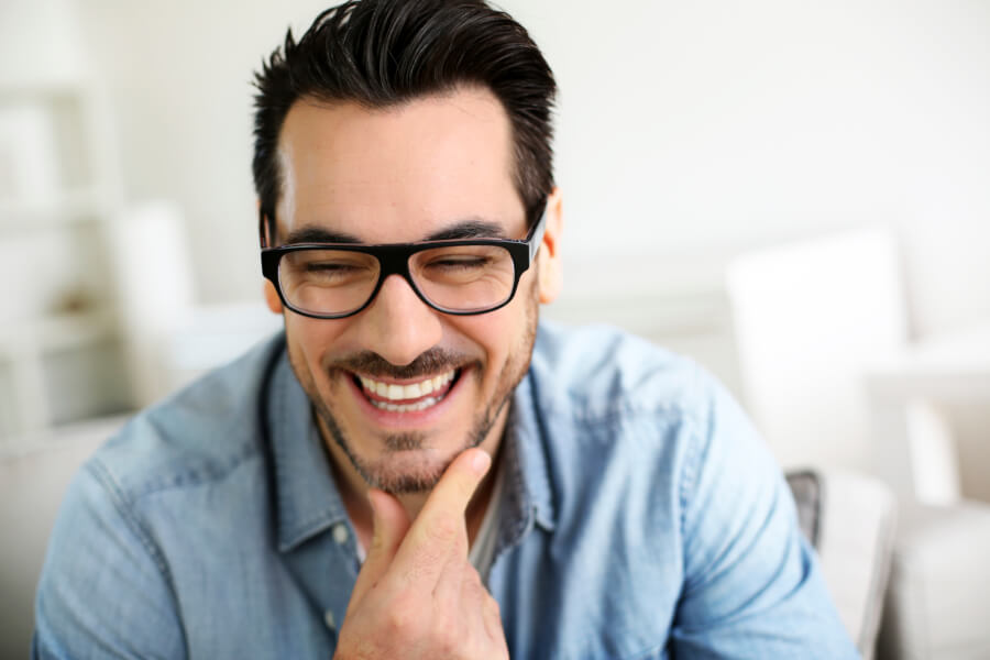 smiling mid-adult man