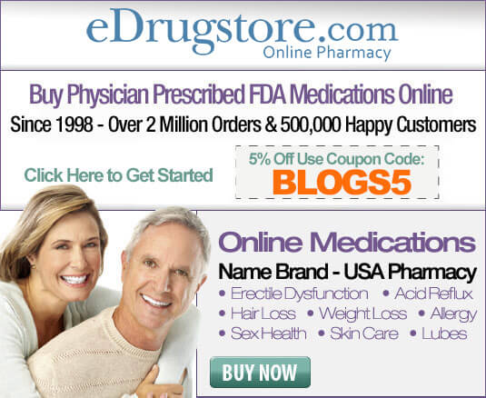 Buy Legal FDA-approved prescription medications like Viagra, Cialis, Levitra and Staxyn From eDrugstore.com