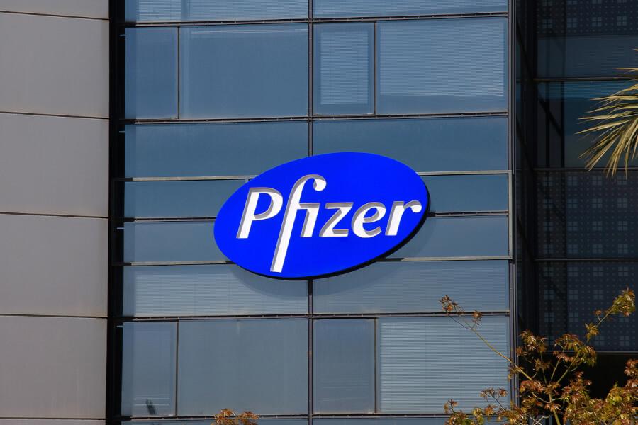 Pfizer sign.