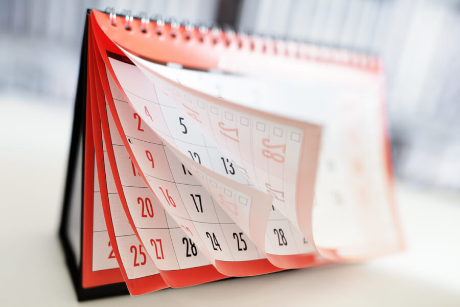 Paper calendar.