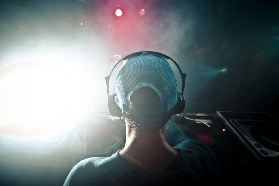 DJ in a nightclub.