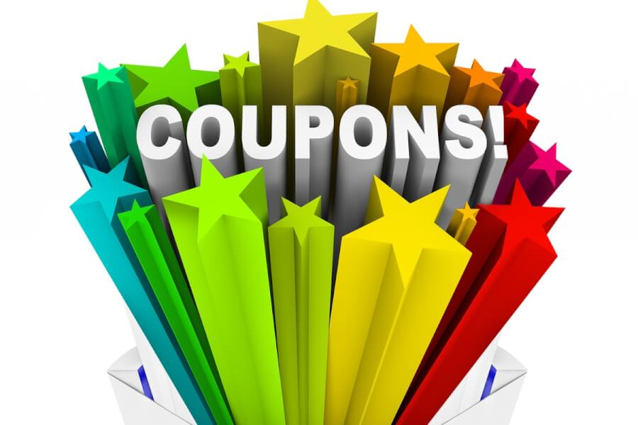 The word coupons with stars.