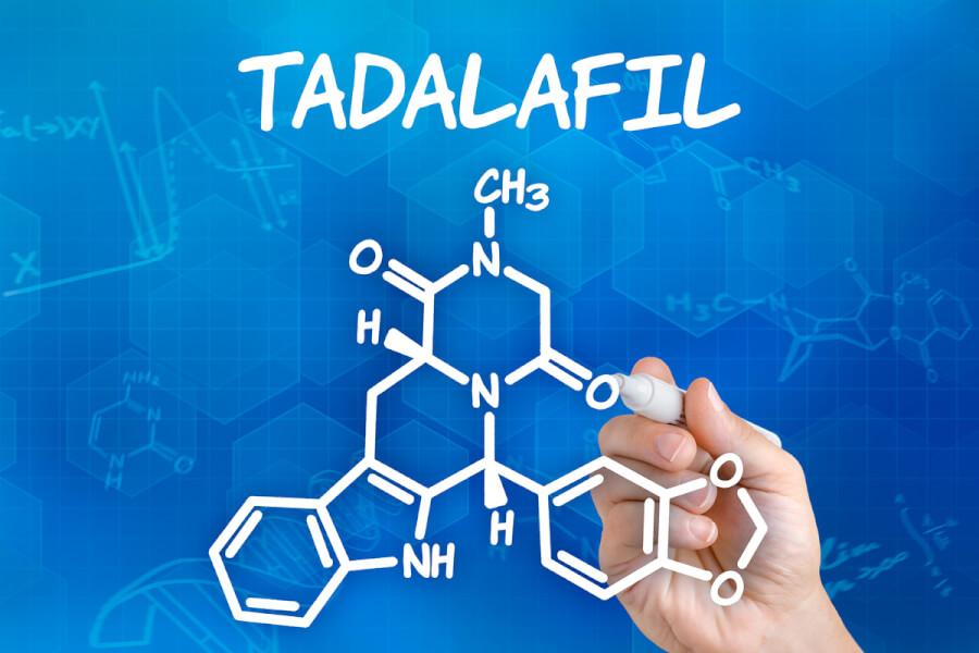Tadalafil molecular diagram.