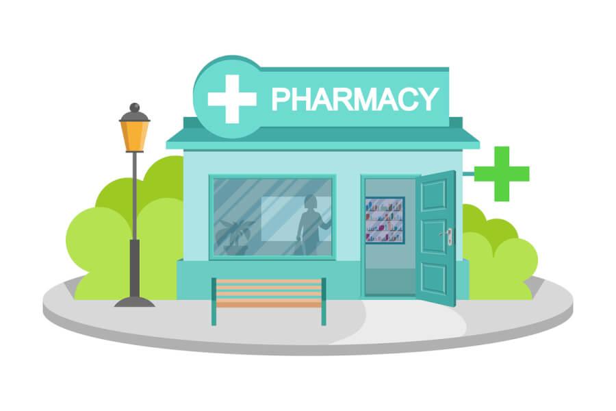 Pharmacy store.