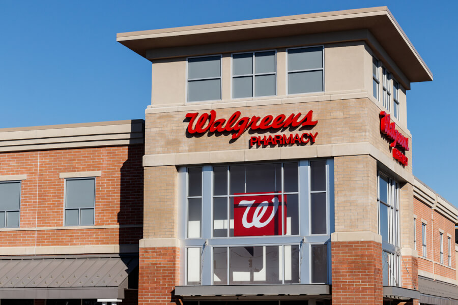 Walgreens store front.