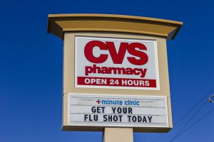 CVS Pharmacy sign.