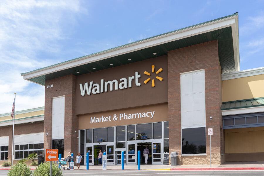 Storefront of Walmart.