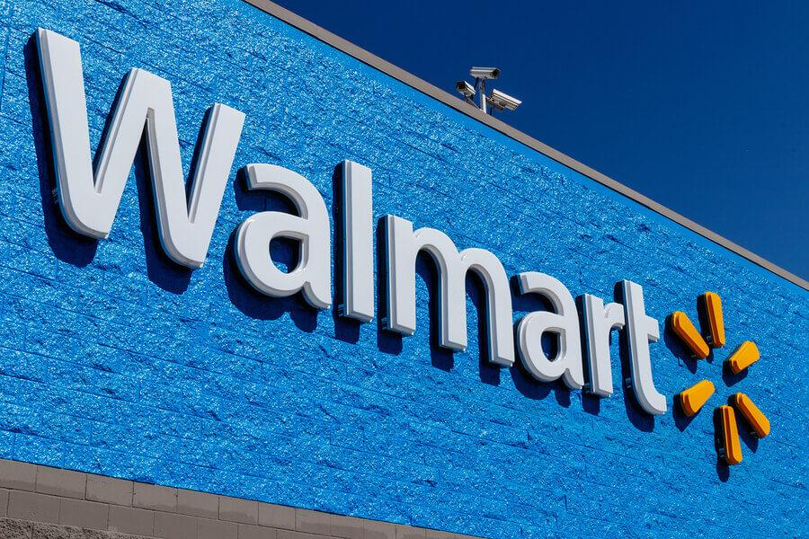 Walmart store sign.
