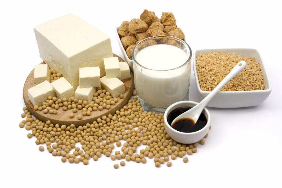Soy in various forms.