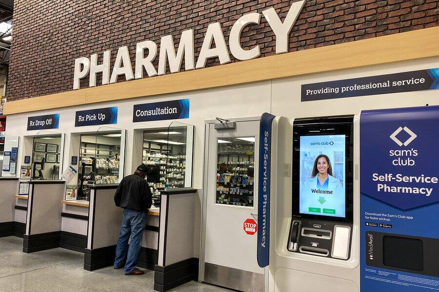 Pharmacy counter.
