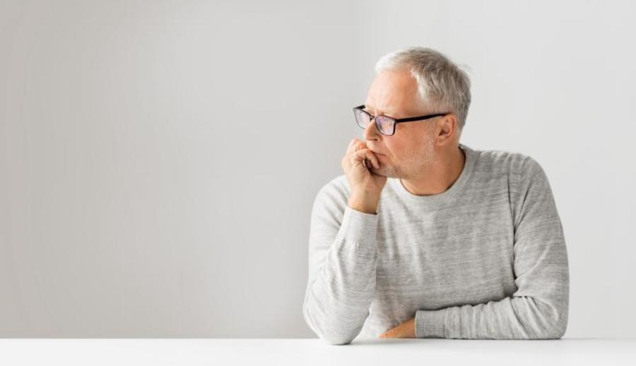 Man staring off to the side