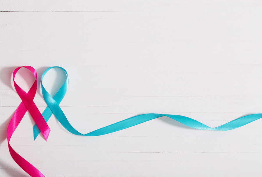 Red and blue ribbon